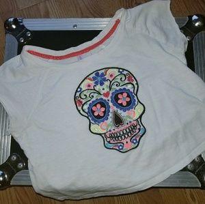 Xhilaration Sugar Skull Shirt